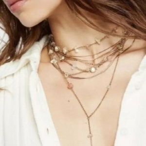Free People Delicate Stones Wrap Bolo Necklace